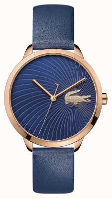 Lacoste | lexi femmes | bracelet en cuir bleu | cadran bleu | 2001058