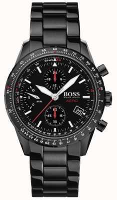 Boss | aero | chronographe noir | montre bracelet noir | 1513771