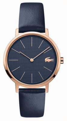 Lacoste | la lune des femmes | bracelet en cuir bleu | cadran bleu | 2001071
