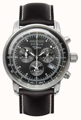 Zeppelin | série 100 ans | date du chronographe | cuir 7690-2