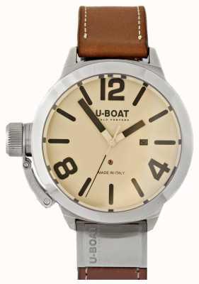 U-Boat Classico 50 tungsteno comme 2 cadran crème 8091