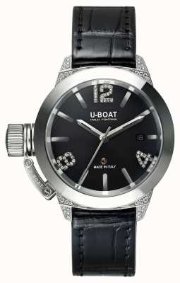 U-Boat Bracelet en alligator Classico 40 ss avec diamants blancs 6950