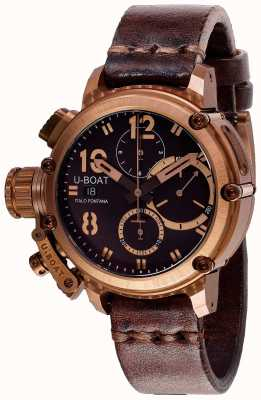 U-Boat Bracelet Chimère Chrono 43mm Bronze Marron 8014