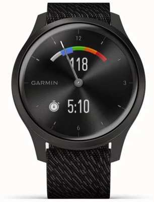 Garmin Style Vivomove 3 | boîtier en aluminium graphite | bracelet noir 010-02240-03