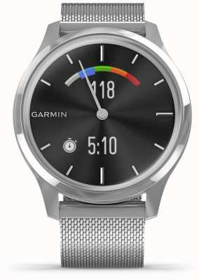 Garmin Vivomove luxe | boîtier en acier inoxydable | bande milanaise argent 010-02241-03