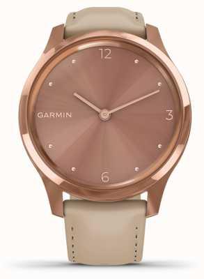 Garmin Vivomove 3 luxe | Boîtier pvd en or rose 18ct | cuir italien 010-02241-01