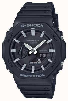 Casioak | noyau de carbone g-shock | série octogonale | bracelet en résine noire | GA-2100-1AER