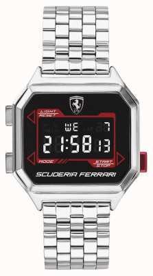 Scuderia Ferrari | digidrive des hommes | bracelet en acier inoxydable | cadran noir | 0830703