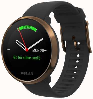 Polar | s'enflammer | montre fitness noire & cuivre | m / l | Caoutchouc noir 90079362