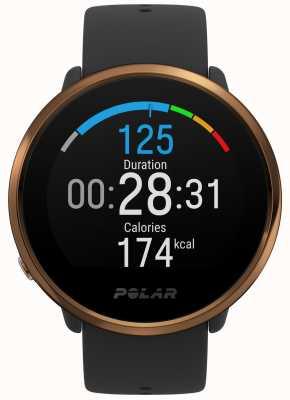 Polar | s'enflammer | montre fitness noir et cuivre | m / l | Caoutchouc noir 90079362