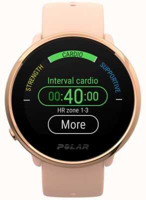 Polar | s'enflammer | montre de fitness rose et rose | petit | caoutchouc rose 90079898