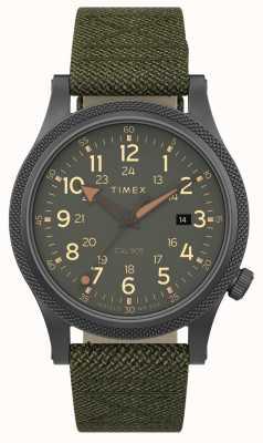 Timex | allié lt 40mm | étui gris | bracelet en tissu vert | TW2T76000