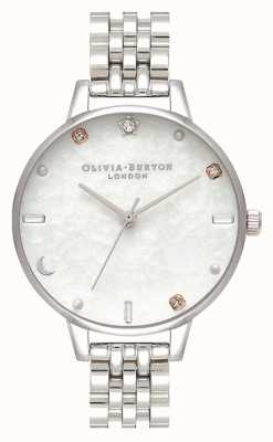 Olivia Burton | bracelet étoile et lune en argent céleste | nacre OB16GD30