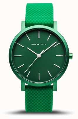 Bering | vraie aurore | bracelet en caoutchouc vert | cadran vert | 16934-899