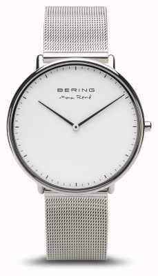 Bering | max rené | l'argent poli des hommes | bracelet en maille d'argent | 15738-004