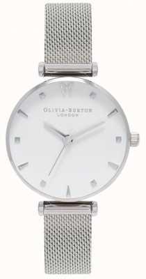 Olivia Burton | les femmes | papillon social | cadran blanc | bracelet en maille OB16MB12