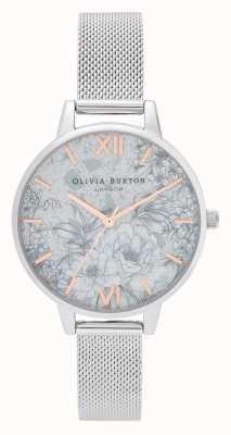 Olivia Burton | les femmes | fleurs de terrazzo | bracelet en maille d'argent | OB16TZ06