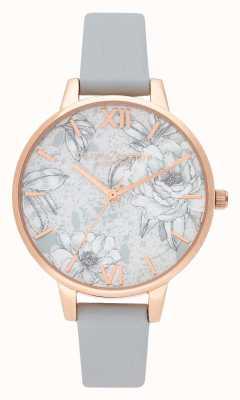 Olivia Burton | les femmes | fleurs de terrazzo | bracelet en cuir végétalien gris | OB16TZ01