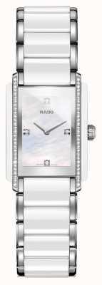 RADO Montre à cadran carré en céramique haute technologie avec diamants intégrés R20215902