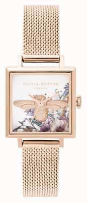 Olivia Burton | les femmes | jardin enchanté | Abeille 3d | maille en or rose | OB16EG152