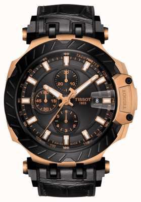 Tissot | t-race | chronographe automatique | bracelet en caoutchouc noir | T1154273705101