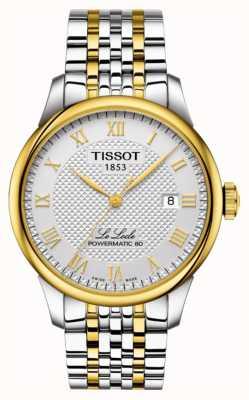 Tissot | le locle powermatic 80 | bracelet en acier inoxydable deux tons T0064072203301