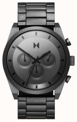 MVMT Élément chrono | bracelet en acier inoxydable gris | cadran gris 28000048-D