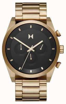 MVMT Element chrono | bracelet en acier plaqué or | cadran noir | 28000047-D