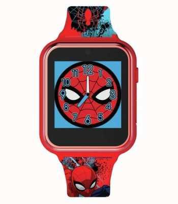 Avengers Montre intelligente | boîtier en plastique rouge | bracelet en silicone imprimé | SPD4588
