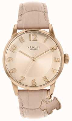 Radley Rue de Liverpool | bracelet en cuir rose | cadran rose | RY2872