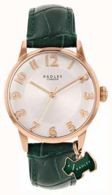 Radley Rue de Liverpool | bracelet en cuir vert | cadran blanc | RY2870