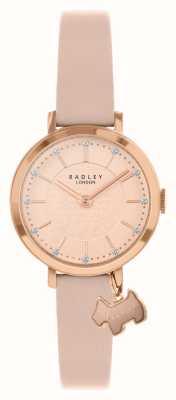 Radley Rue Selby | bracelet en cuir rose | cadran rose / or rose | RY2864