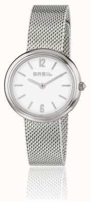 Breil Bracelet maille d'acier inoxydable cadran blanc Iris TW1776