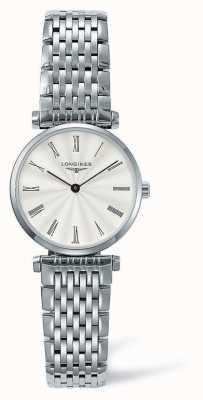 Longines Bracelet élégance classique en argent | visage blanc | L42094716