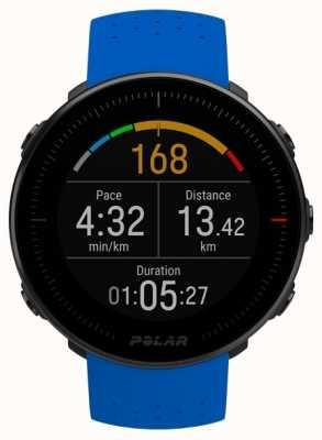 Polar | vantage m | moniteur de fréquence cardiaque | bracelet en caoutchouc bleu 90080197