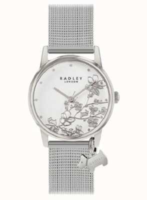 Radley Floral botanique | bracelet en maille d'argent | cadran floral blanc RY4401