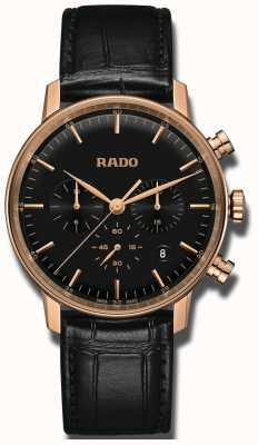 RADO Coupole classique quartz chronographe cadran noir R22911165