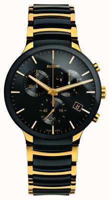 Rado Centrix chronographe xl céramique haute technologie doré R30134162