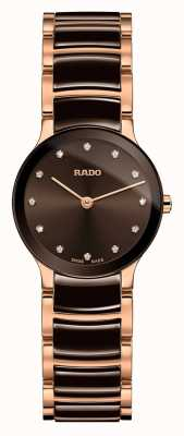 Rado Céramique diamants et or rose Centrix R30190702