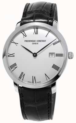 Frederique Constant Mens | slimline | automatique | cuir noir | cadran argenté FC-306MR4S6