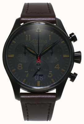 Alpina Startimer pilote shadow | hommes | quartz | chronographe AL-372BBG4FBS6