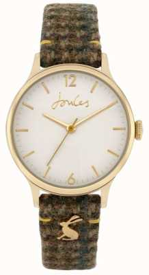 Joules '30e anniversaire' | bracelet en tweed vert | cadran blanc JSL029NG