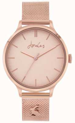 Joules Ryton | bracelet en maille d'or rose | cadran en or rose | JSL026RGM