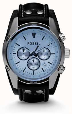 Fossil Montre chronographe cadran bleu homme CH2564