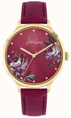 Joules | tillbury femmes | bracelet en cuir de baies | cadran floral | JSL021RG