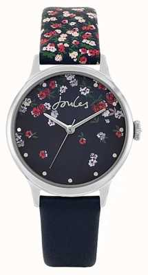 Joules | terrain des femmes | bracelet en silicone bleu | cadran floral bleu JSL023US