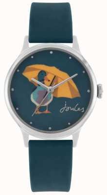 Joules Bracelet en silicone sarcelle pour femme | cadran imprimé canard | JSL010AU