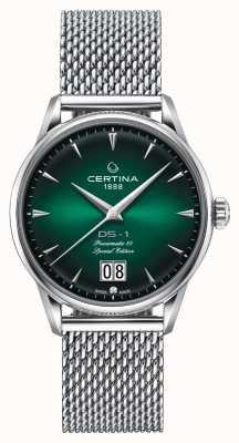 Certina Ds-1 édition spéciale big date | powermatic 80 | maille d'argent C0294261109160