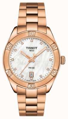 Tissot | pr 100 sport chic | bracelet en or rose | modèle d'affichage ex T1019103311600EX-DISPLAY