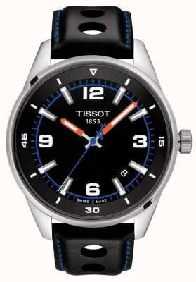 Tissot | alpin | bracelet en cuir noir | cadran noir | T1236101605700